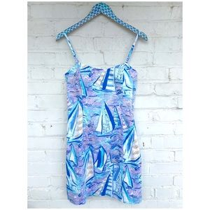 NWT Lilly Pulitzer Shelli Stretch Aboat Time Dress